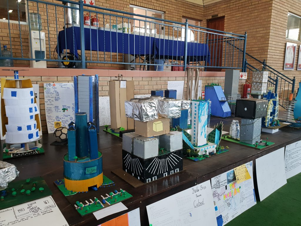 Sustainable buildings designed by Grade 8 and 9 learners