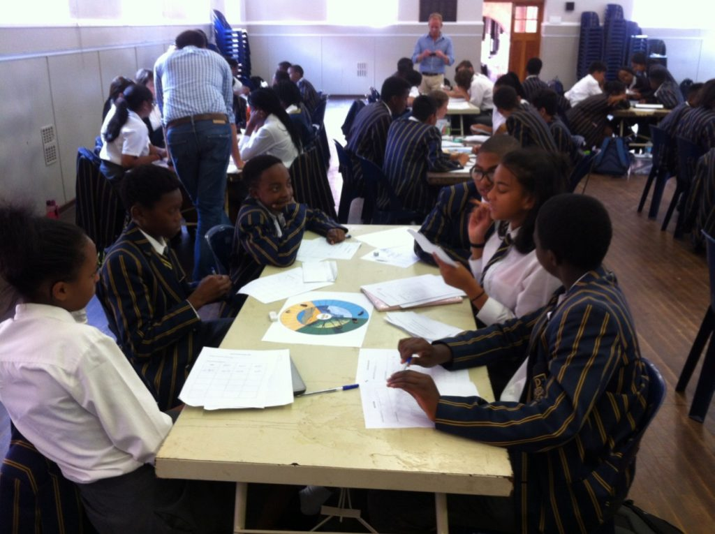 Learners at Sacred Heart College discover the principles of evolution by natural selection from the bottom up by playing a MindBurst boardgame