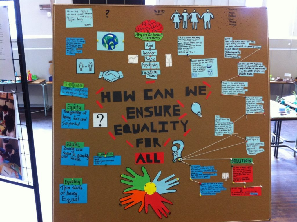 Conversation wall on the theme of 'How can we unsire equality for all?'