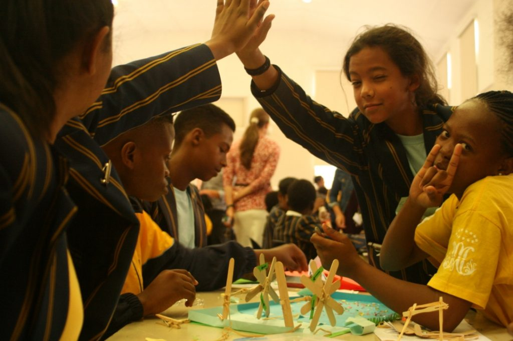 Sacred Heart College learners build sculptures, happy with their success so far